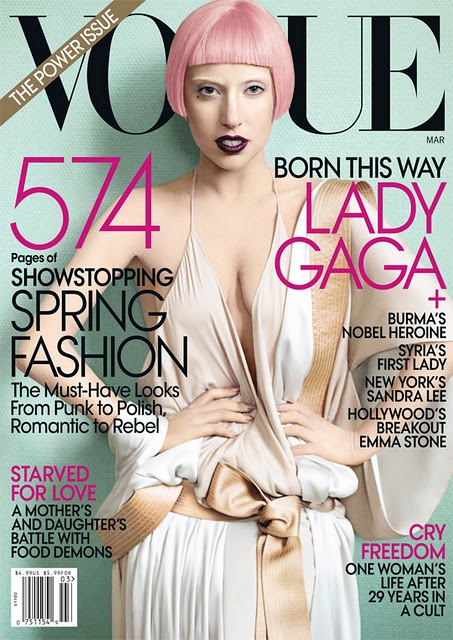 Lady Gaga Vogue Cover. Gaga is graced on the cover of