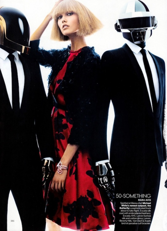 Daft Punk and Supermodel Karlie Kloss for Vogue